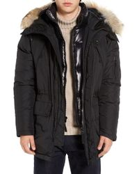 Sam. - Avalanche Genuine Coyote Fur Trim Parka - Lyst