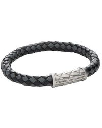 Porsche Design - 'nexus' Leather Bracelet - Lyst