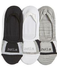 Zella - 3-pack Low Profile Socks - Lyst