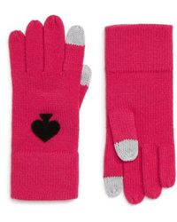Kate Spade - Solid Spade Gloves - Lyst