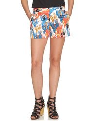 Cece by Cynthia Steffe - 'cactus Sketches' Print Stretch Cotton Shorts - Lyst