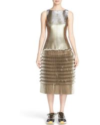 Phelan - Pleated Metallic Tank Dress - Lyst