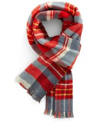 Psycho Bunny - Reversible Wool & Cashmere Scarf - Lyst