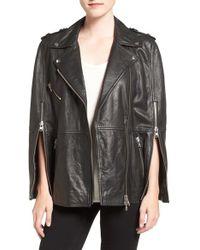 Pam & Gela - Leather Moto Cape - Lyst