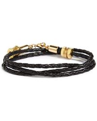 Half United - 'honeycomb' Leather Wrap Bracelet - Lyst