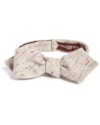 Alexander Olch - 'the Crisp' Cotton Melange Bow Tie - Lyst