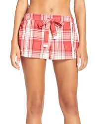 Lucky Brand - Embroidered Cotton Pajama Shorts - Lyst