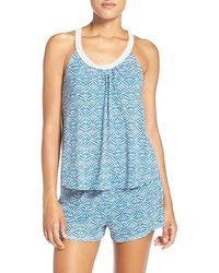 Lucky Brand | Lace Trim Print Pajamas | Lyst