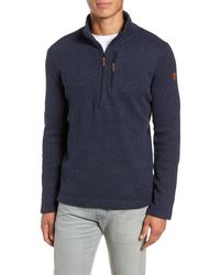 Smartwool Hudson Trail Regular Fit Fleece Half-zip Sweater - Blue