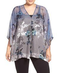 Citron - Botanical Print Silk Kimono - Lyst