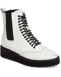 Shellys London | Lily Lace-up Chelsea Platform Wedge Boot | Lyst
