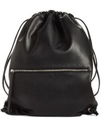 Phase 3 - Faux Leather Sling Backpack - Lyst