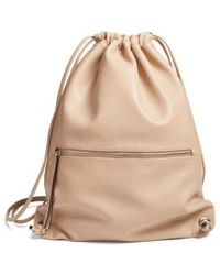 Phase 3 | Faux Leather Sling Backpack | Lyst