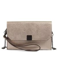 Phase 3 - Faux Leather Wristlet - Metallic - Lyst