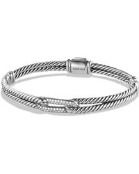 David Yurman - Pave 'labyrinth' Mini Single Loop Bracelet With Diamonds In Gold - Lyst