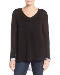 NYDJ - Cutaway Back Layer Look Sweater - Lyst