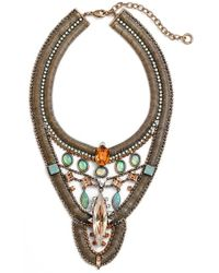 Lionette - Lionette X Sincerely Jules 'havana' Simulated Opal Statement Necklace - Lyst