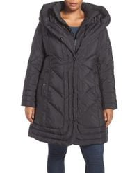 Gallery - Pillow Collar Quilted Walker Coat - Lyst