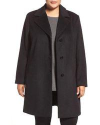 CALVIN KLEIN 205W39NYC - Wool Blend Reefer Coat - Lyst