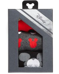 Disney - Mickey Mouse 3-pack Crew Socks, Red - Lyst