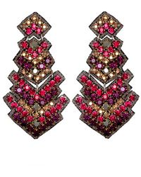 Suzanna Dai - 'zocalo' Large Drop Earrings - Lyst