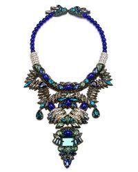 Suzanna Dai - 'khepri' Beaded Crystal Statement Necklace - Lyst