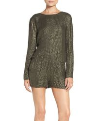 MLV - Long Sleeve Beaded Romper - Lyst