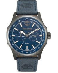 Timberland - 'shermand' Multifunction Leather Strap Watch - Lyst