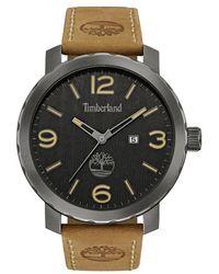 Timberland | 'pinkerton' Leather Strap Watch | Lyst