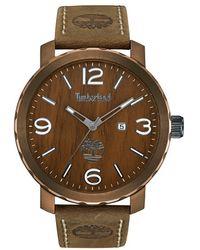 Timberland - 'pinkerton' Leather Strap Watch - Lyst