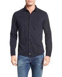 Thaddeus - Shipley Slim Fit Pique Knit Sport Shirt - Lyst