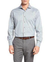 Thaddeus - Frank12 Slim Fit Tattersall Sport Shirt - Lyst