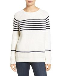 Amour Vert - 'harmony' Stripe Merino Wool Sweater - Lyst