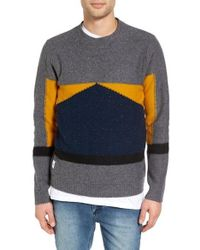 Native Youth - Barometer Colorblock Crewneck Sweater - Lyst
