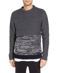 Native Youth - Colorblocked Polar Knit Sweater - Lyst