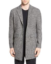 Native Youth - Ashfall Tweed Overcoat - Lyst