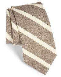 Strong Suit - Stripe Silk & Cotton Tie - Lyst