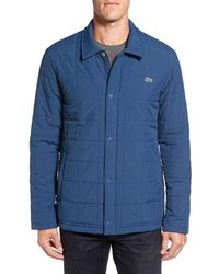 Lacoste - Quilted Water Resistant Car Coat - Lyst