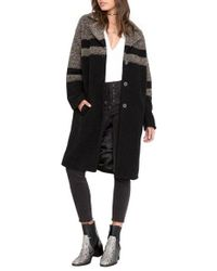 Amuse Society - Evelyn Stripe Wool Blend Coat - Lyst