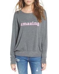 Daydreamer - 'amazing' Graphic Sweatshirt - Lyst