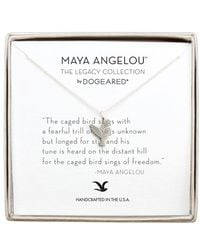 Dogeared - 'legacy Collection - The Caged Bird Sings' Pendant Necklace - Lyst