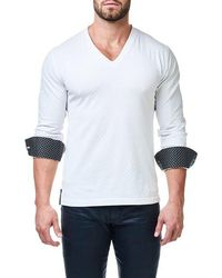 Maceoo - Check V-neck Pullover - Lyst