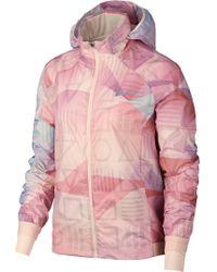 Nike - Shield Flash Packable Water Resistant Running Jacket - Lyst