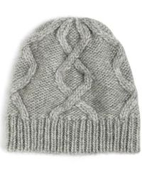J.Crew | Cable Hat In Italian Wool Blend | Lyst