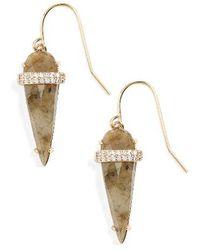 Melanie Auld - Spear Semiprecious Stone Earrings - Lyst
