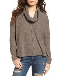 Lush - Brushed Cowl Neck Pullover - Lyst