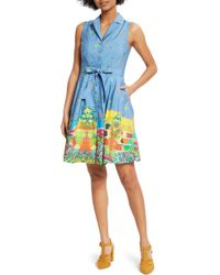 ModCloth - Community Brunch Sleeveless Cotton Shirtdress - Lyst