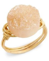 Bourbon and Boweties - Wire Wrapped Drusy Ring - Lyst