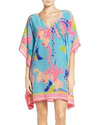 Lilly Pulitzer - Lilly Pulitzer Lindamarie Silk Caftan - Lyst