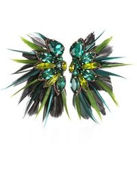 Suzanna Dai - Macapa Genuine Feather Earrings - Lyst
